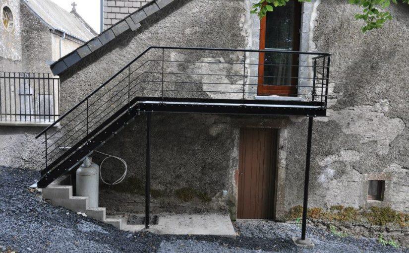 Escalier de secours – Ferronnerie